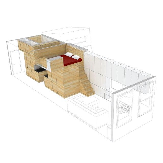 нашироко в малък апартамент - план