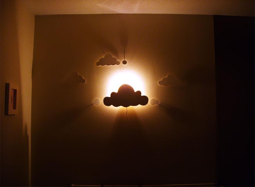 нощни лампи на облачета 2