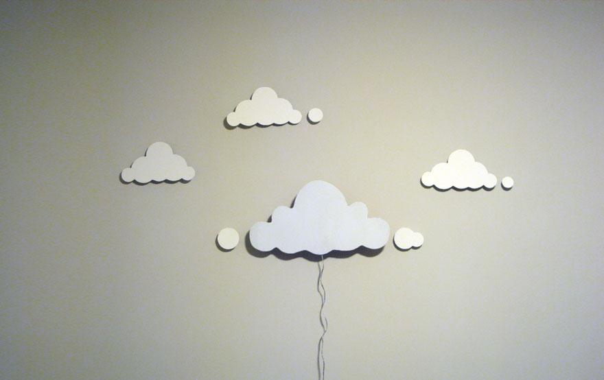 нощни лампи на облачета