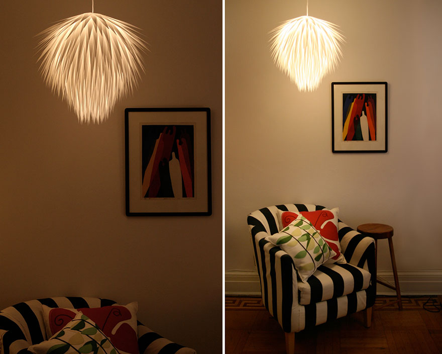 рошава хартиена лампа 2