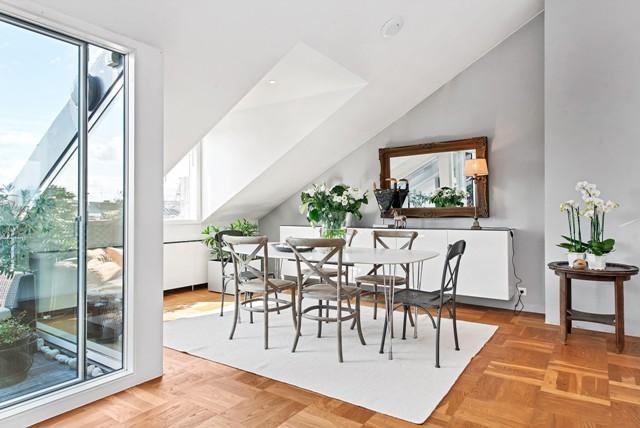 свеж просторен скандинавски апартамент - 1