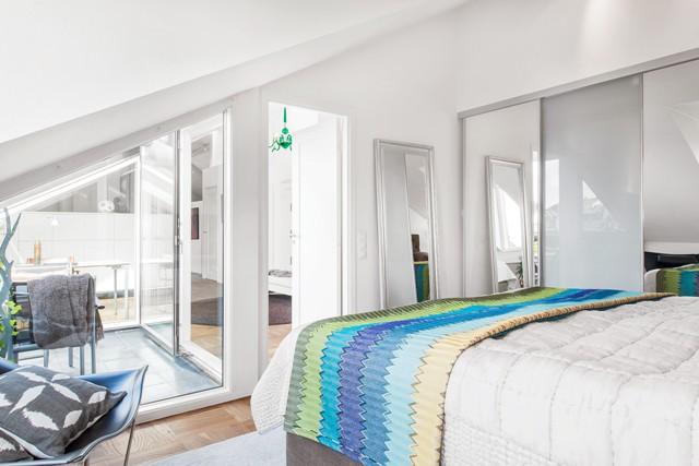 свеж просторен скандинавски апартамент - 24