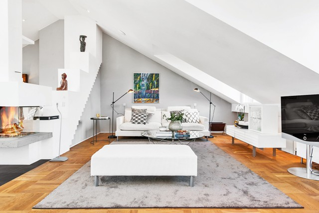 свеж просторен скандинавски апартамент - 9