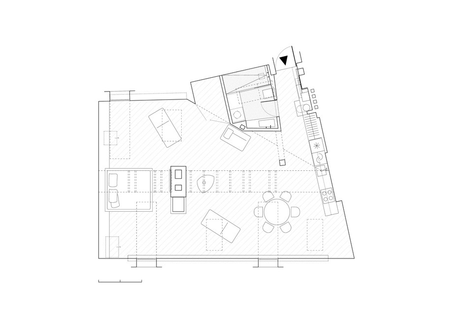 таванско жилище -план