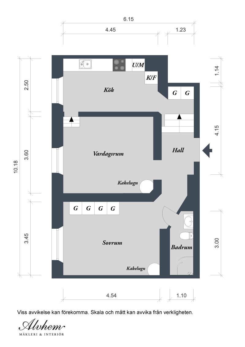чаровен скандинавски апартамент - план