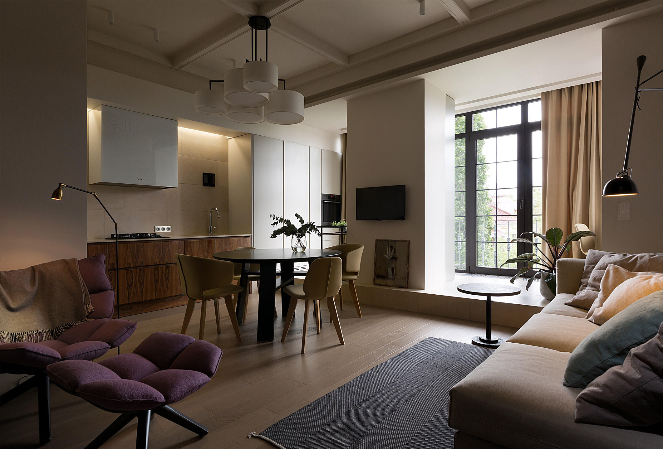 красив двустаен апартамент - 1