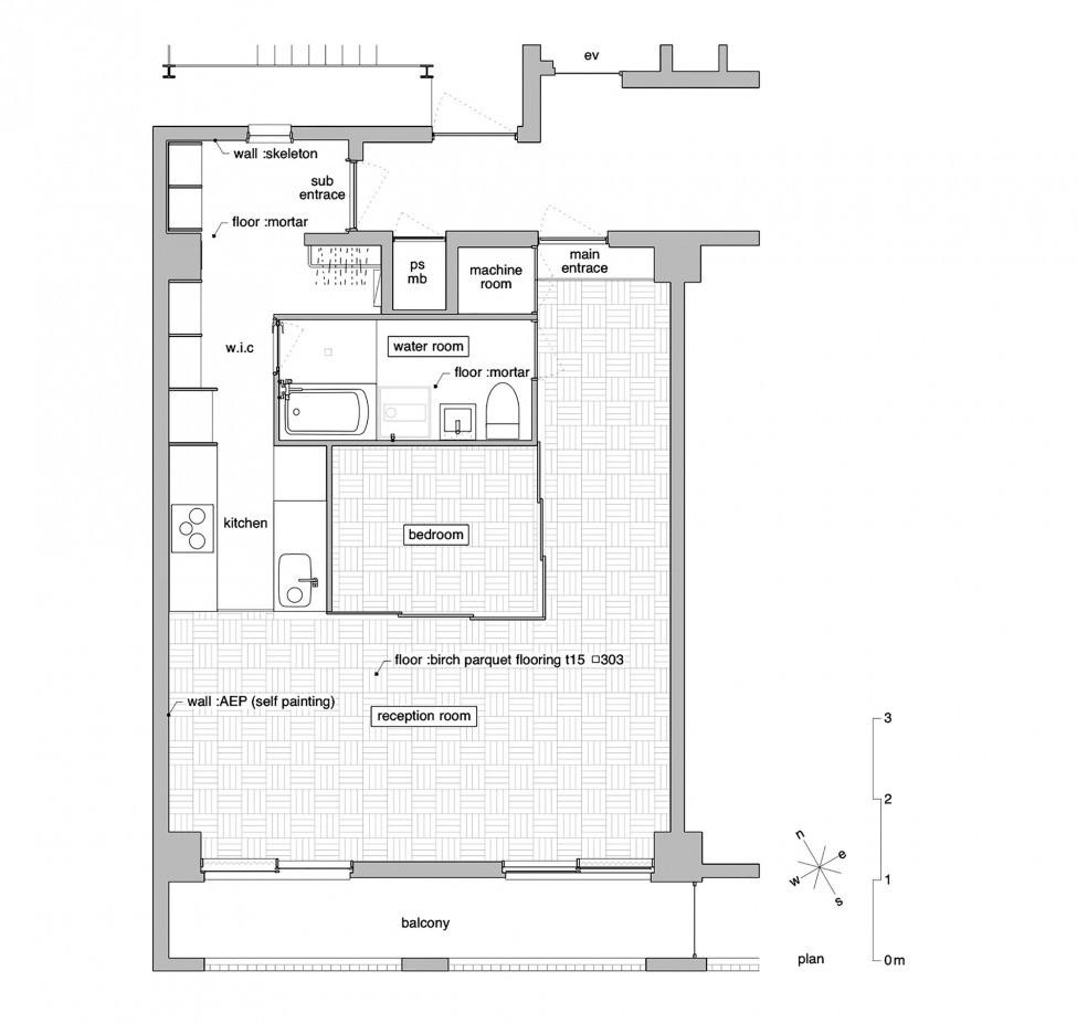 Спалня с плъзгащи врати - план