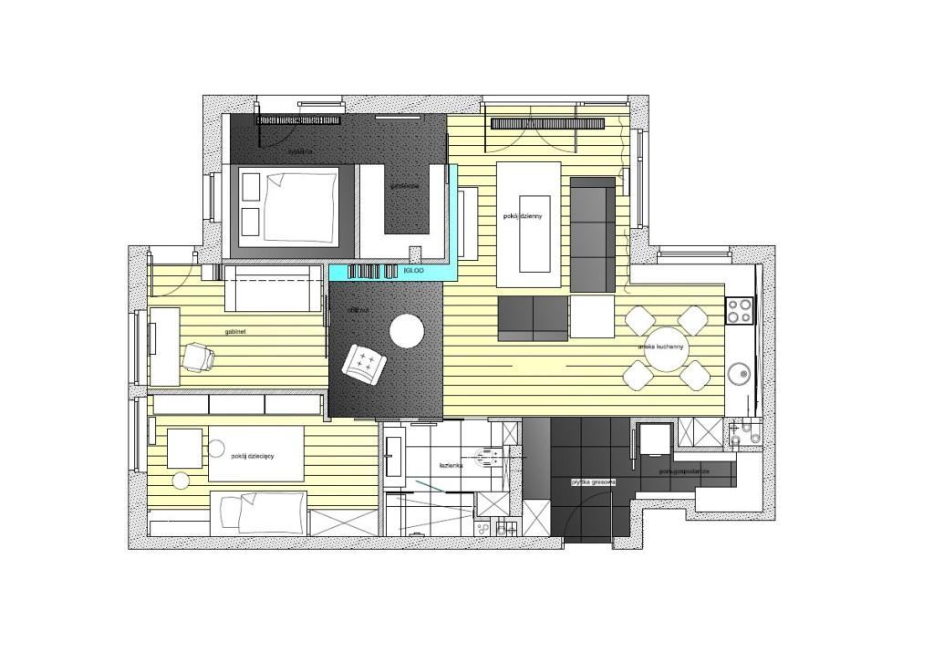 жилище с оригинален и модерен интериор - разпределение