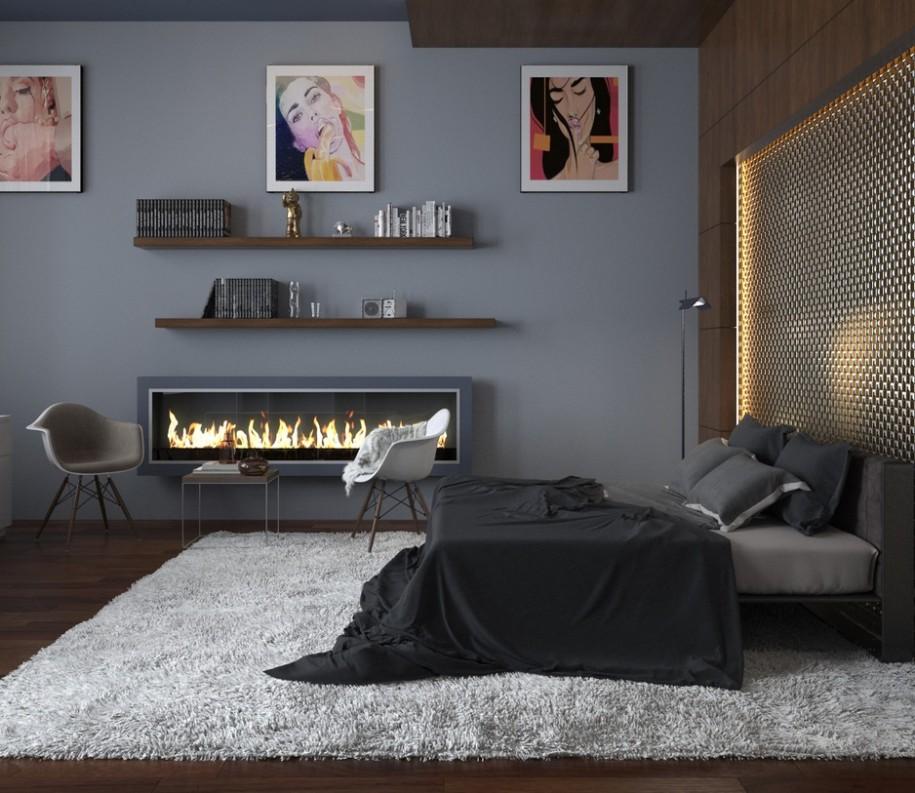 идеи за мъжка спалня - 11