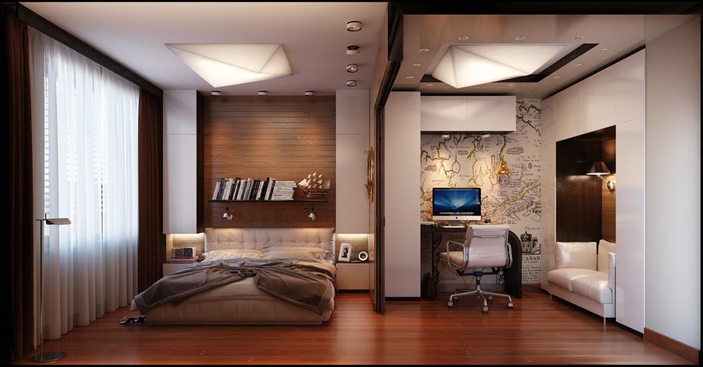 идеи за мъжка спалня - 8