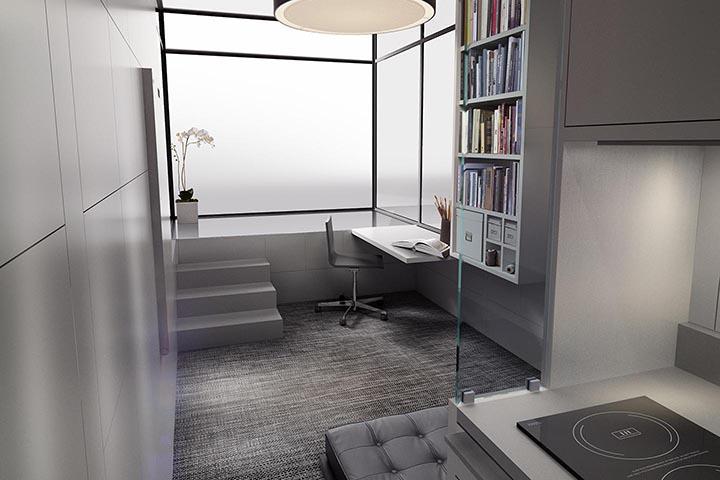 касита студио, което може да се мести - интериор 1