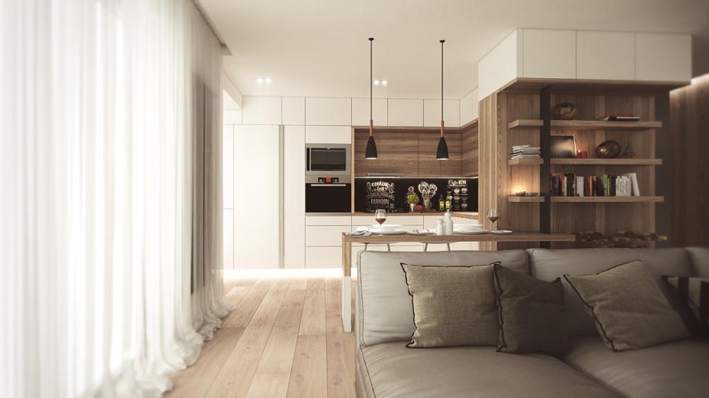красиво семейно жилище с дървени акценти - 1