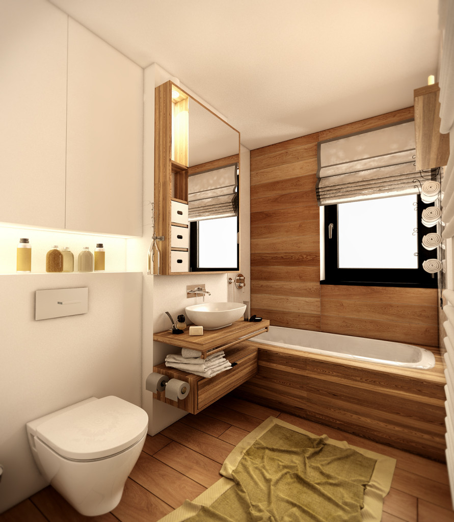 красиво семейно жилище с дървени акценти - 13