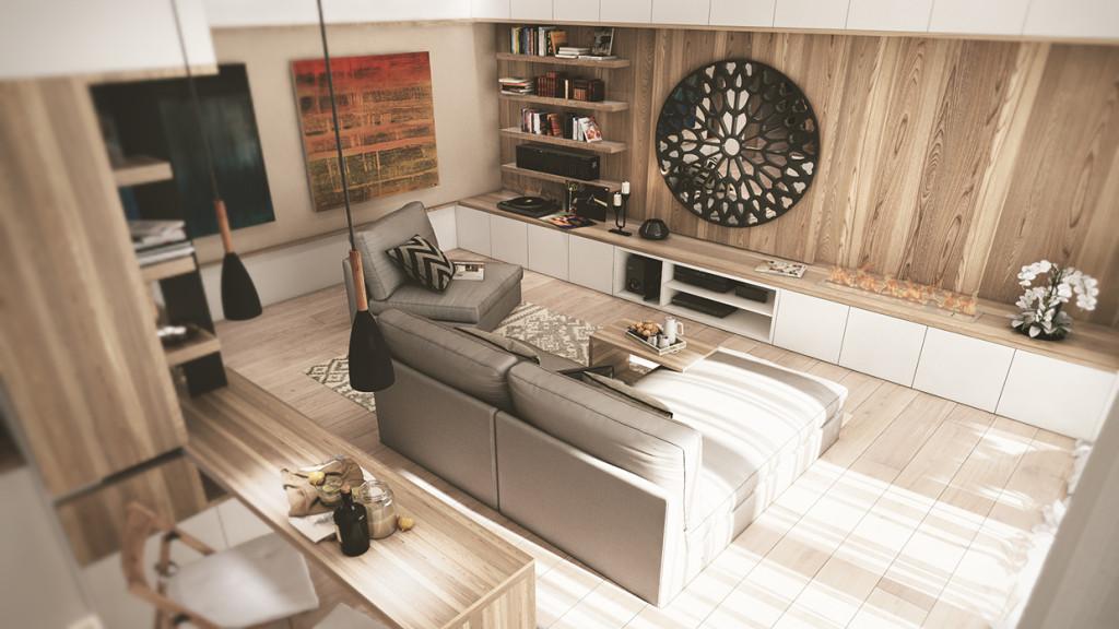 красиво семейно жилище с дървени акценти - 3