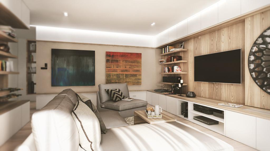 красиво семейно жилище с дървени акценти - 5