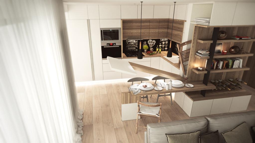 красиво семейно жилище с дървени акценти - 6