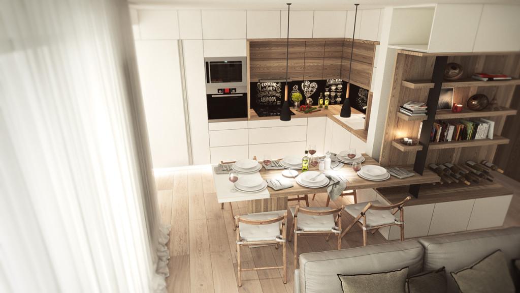 красиво семейно жилище с дървени акценти - 7