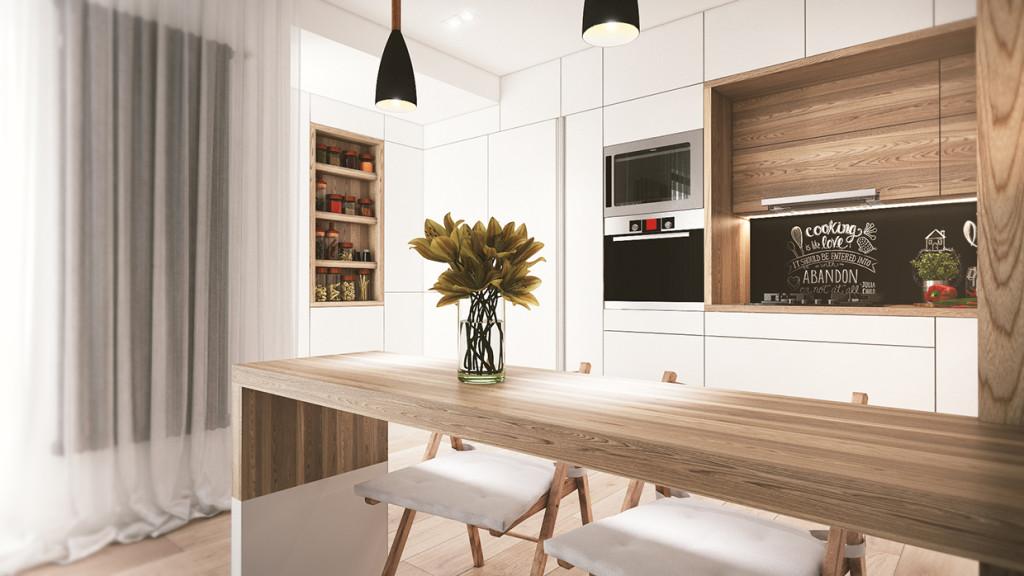 красиво семейно жилище с дървени акценти - 8