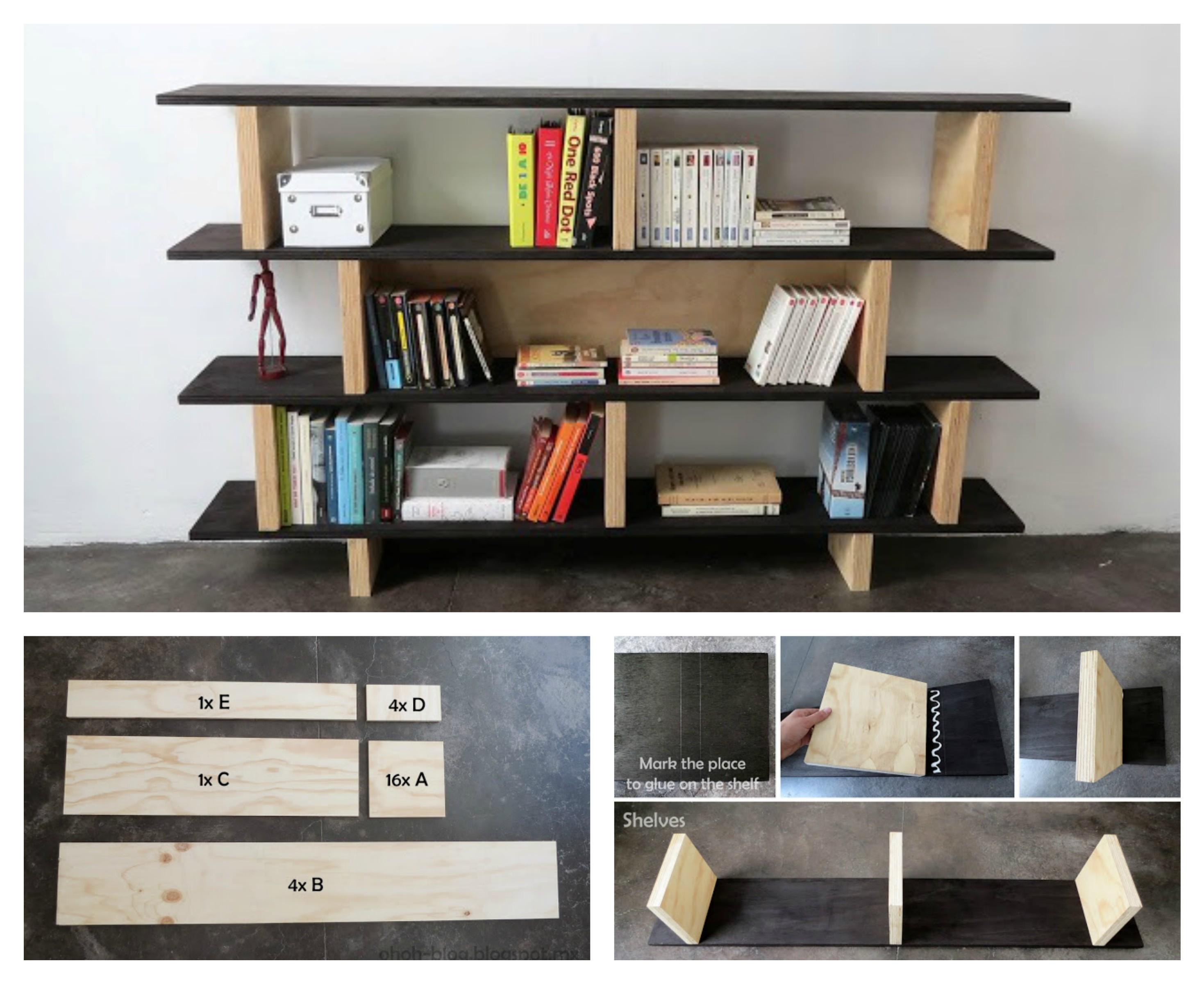 лесна етажерка за книги