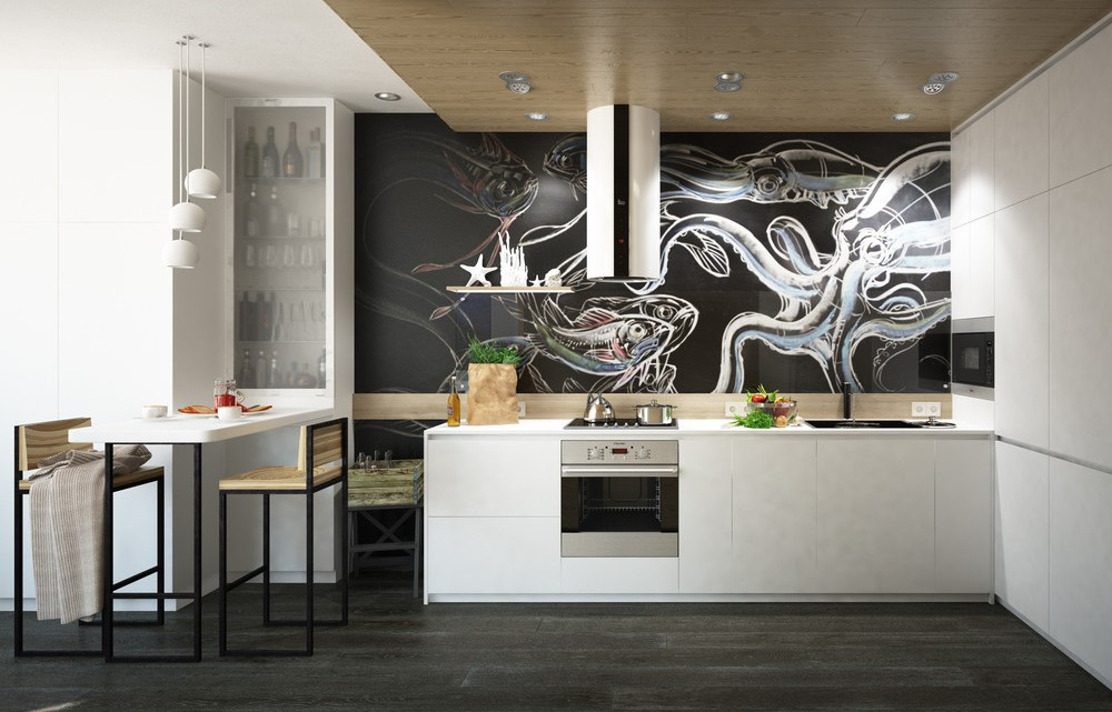 малък апартамент с интересна кухня - 1
