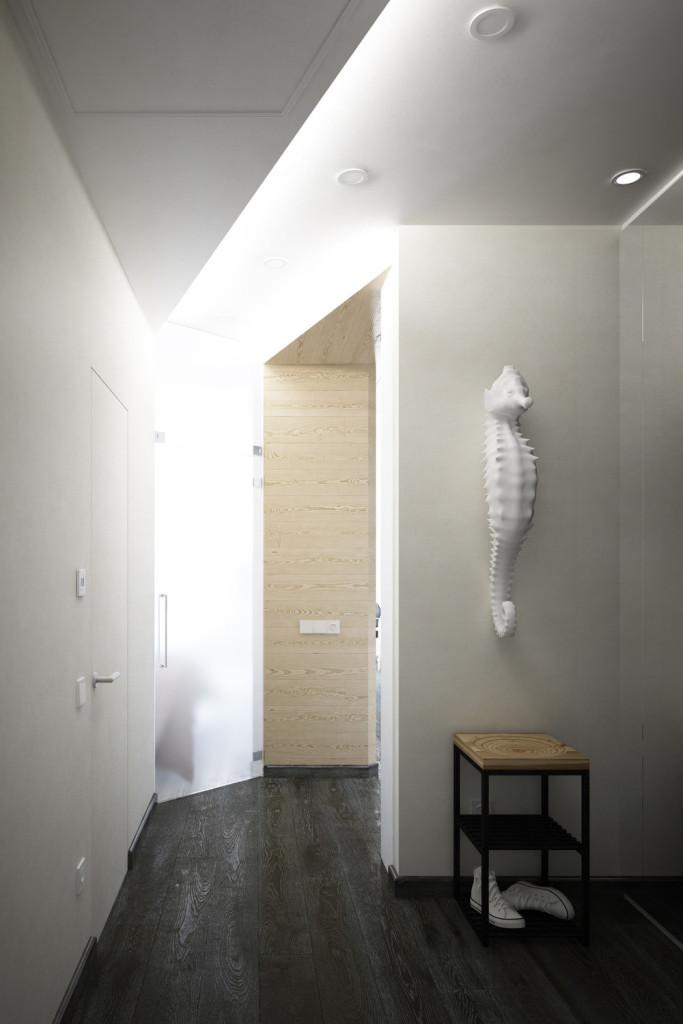 малък апартамент с интересна кухня - 12