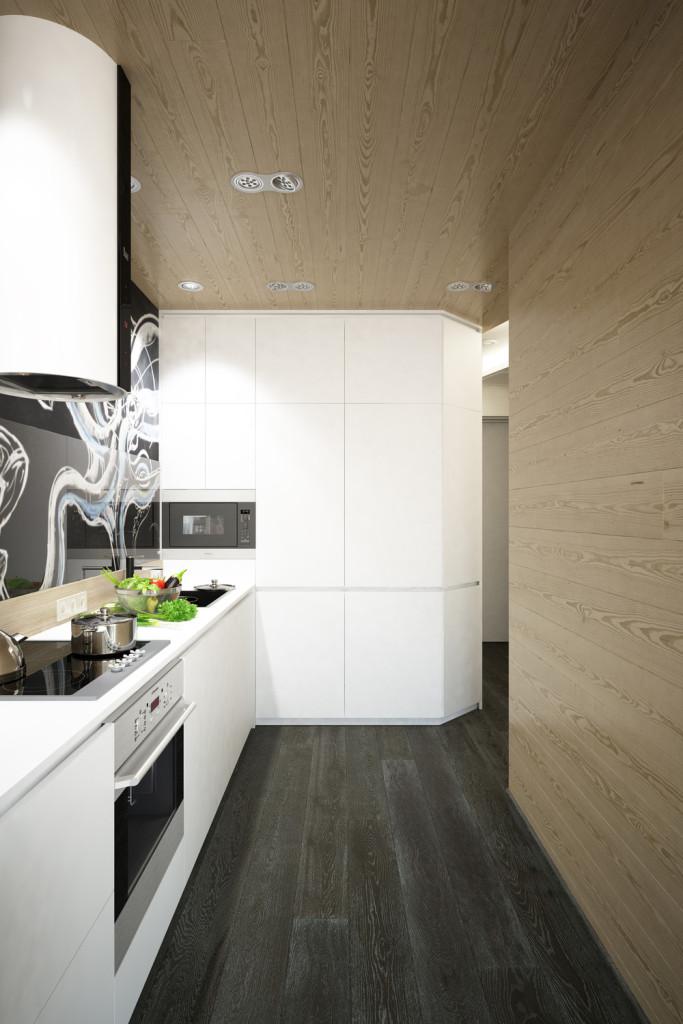 малък апартамент с интересна кухня - 2