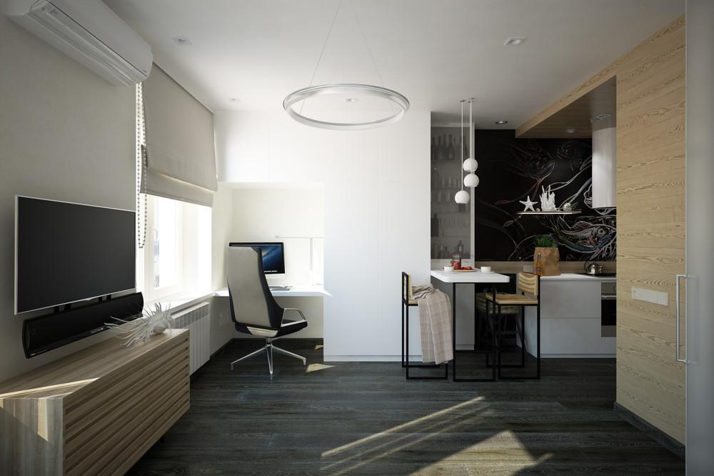 малък апартамент с интересна кухня - 3