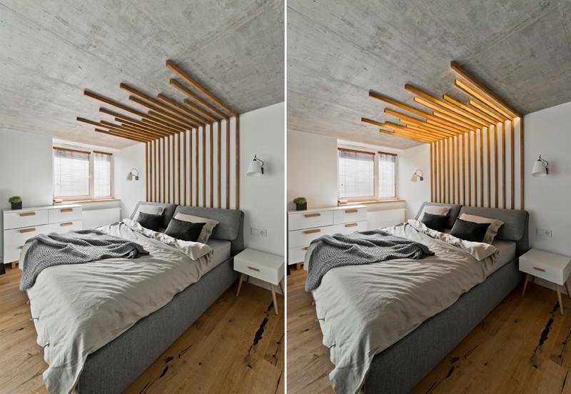 светеща дървена рамка - 1