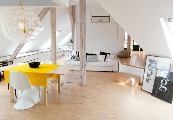 светло таванско жилище - 1