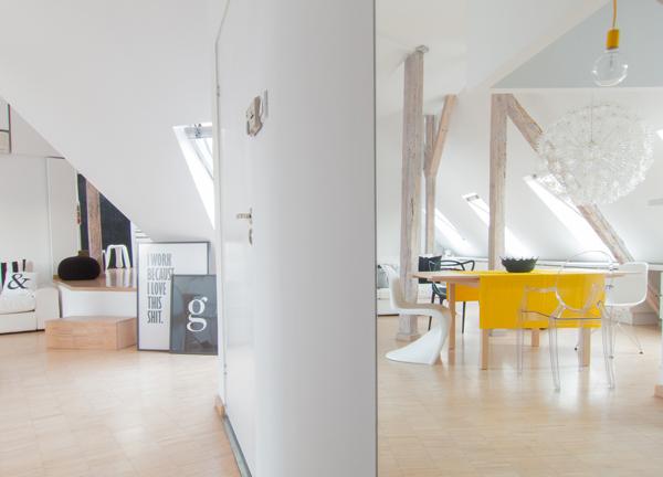 светло таванско жилище - 15