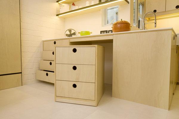 Гениални решения в уютния 39 кв. м апартамент_Кухня_5