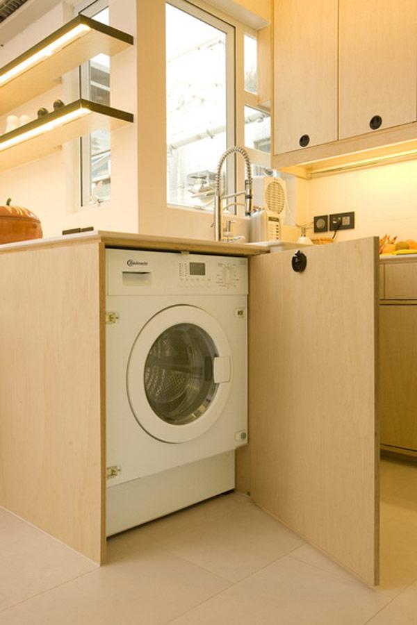 Гениални решения в уютния 39 кв. м апартамент_вградена пералня