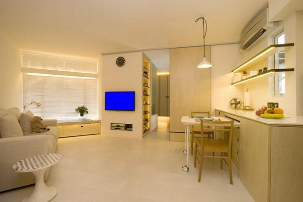 Гениални решения в уютния 39 кв. м апартамент_дневна_1