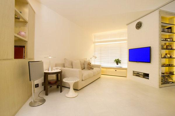 Гениални решения в уютния 39 кв. м апартамент_дневна_2