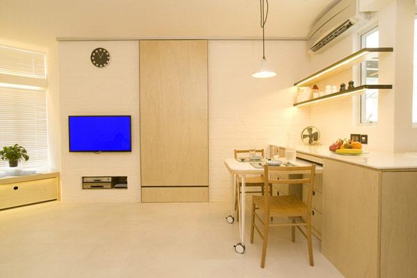 Гениални решения в уютния 39 кв. м апартамент_дневна_3