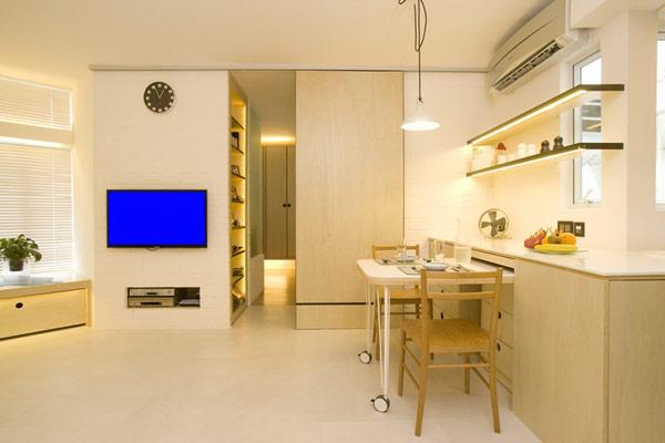 Гениални решения в уютния 39 кв. м апартамент_дневна_4
