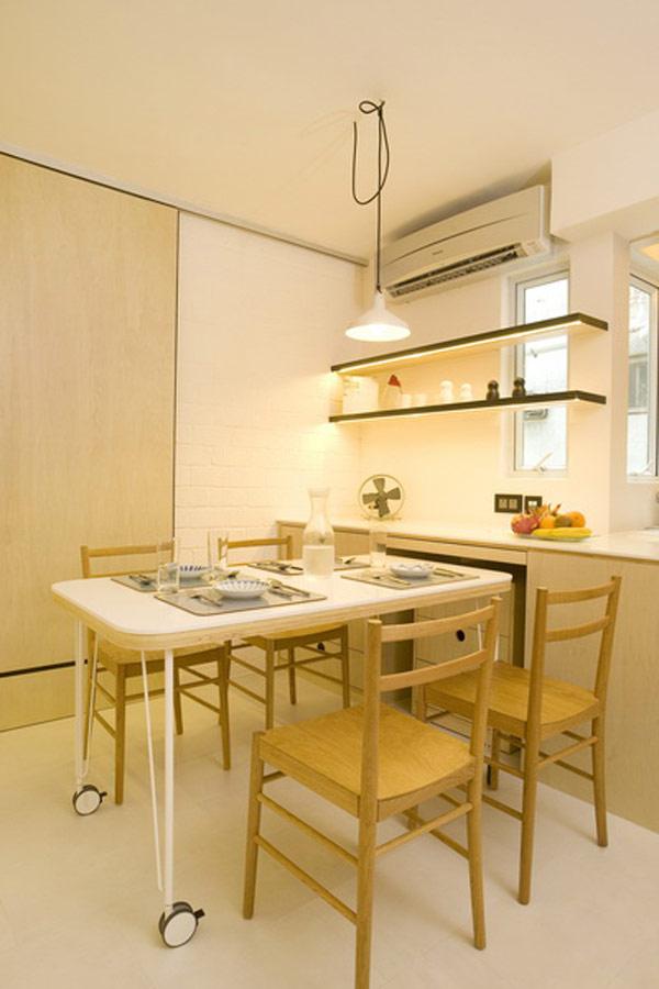Гениални решения в уютния 39 кв. м апартамент_маса за хранене_1