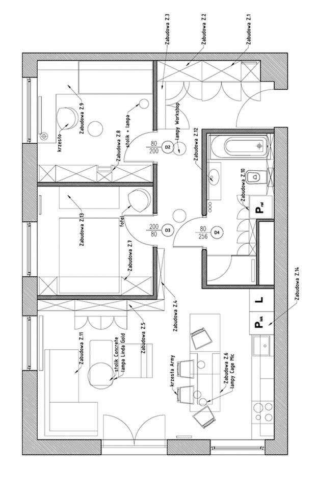 комфортен 60 кв. м апартамент_разпределение