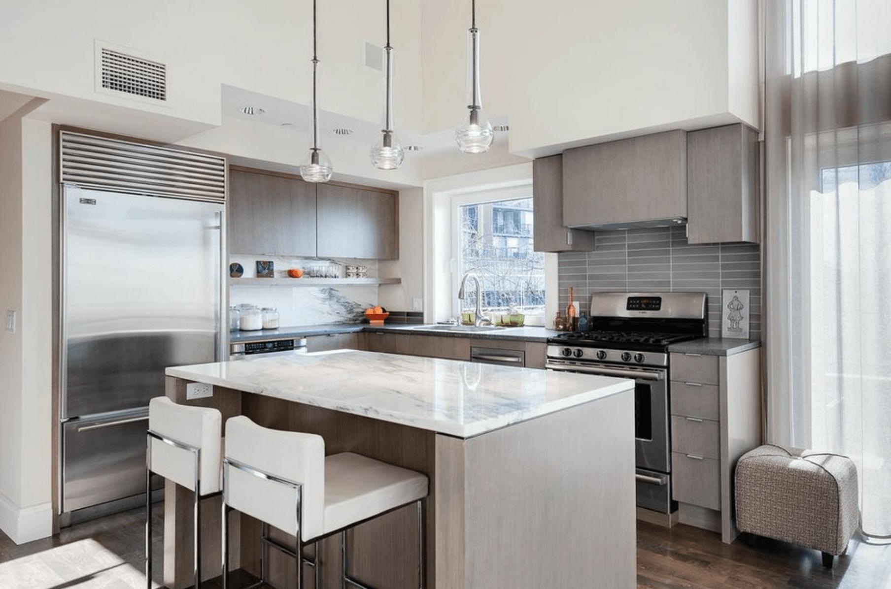 кухня в неутрални цветове