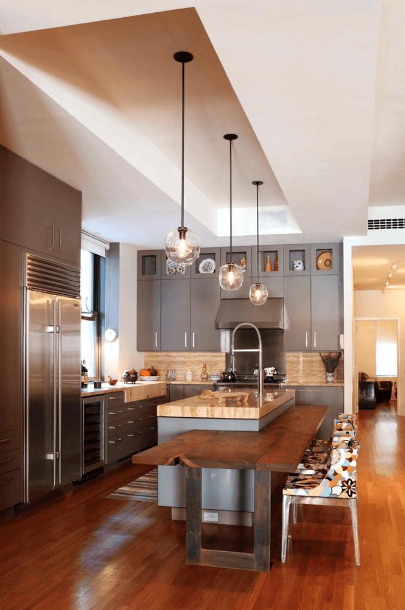 кухня в сиво