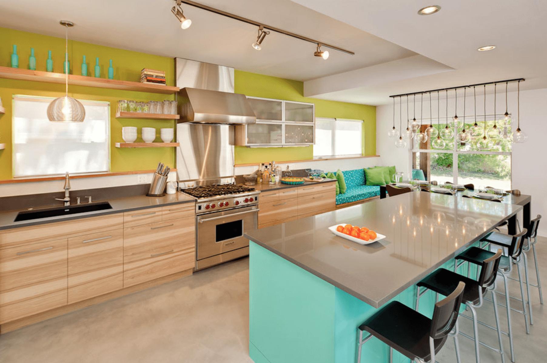 кухня със синьо и зелено_2