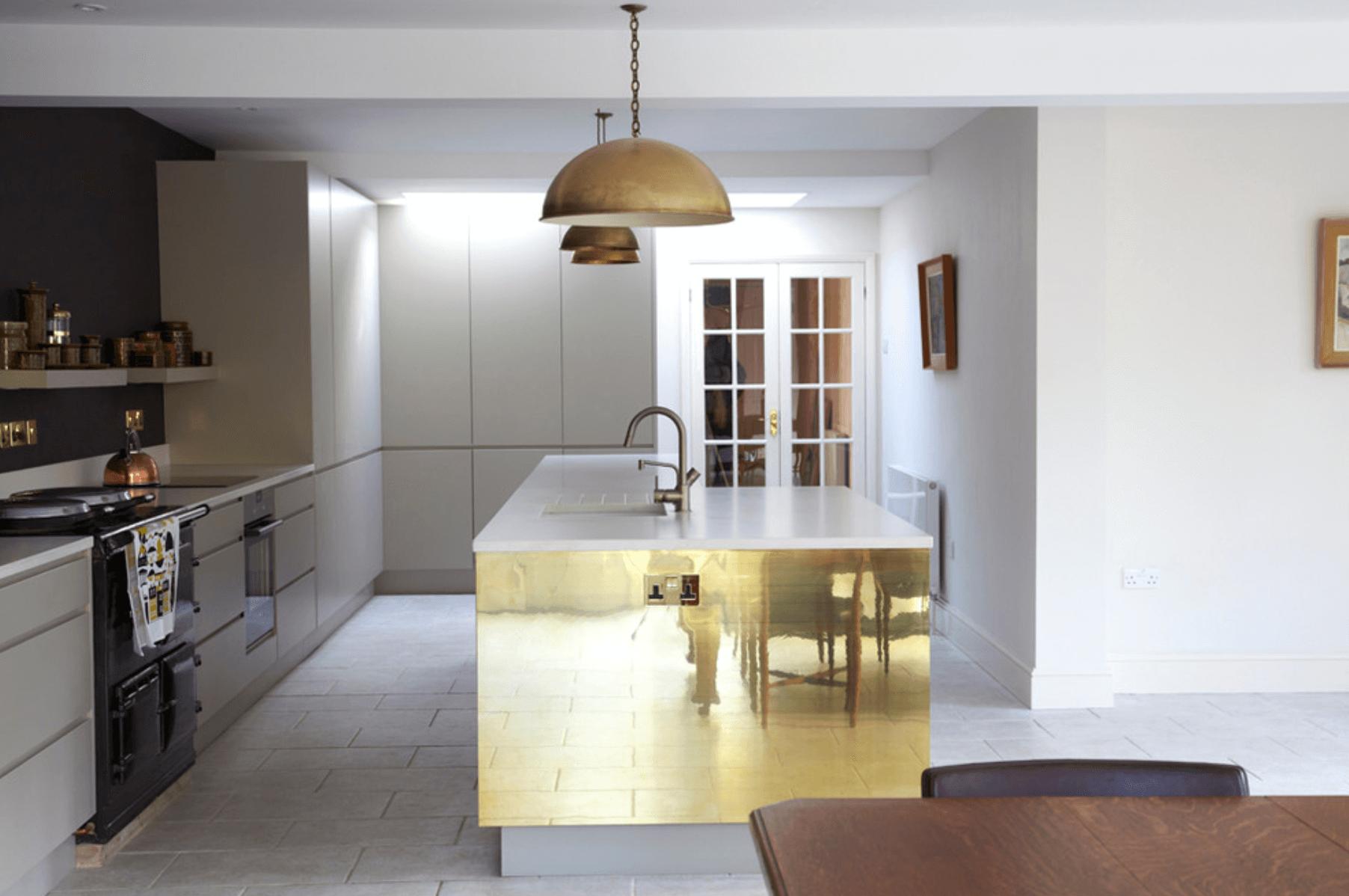 кухня с металически цветове_1