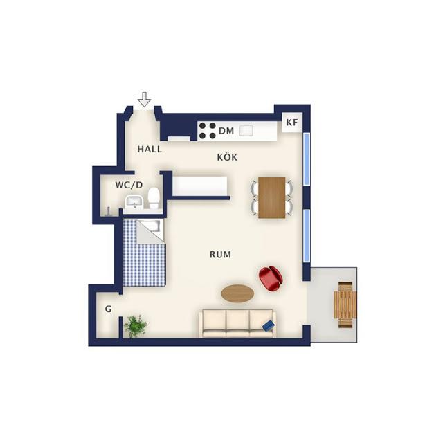 малък скандинавски апартамент_39 кв. м_15