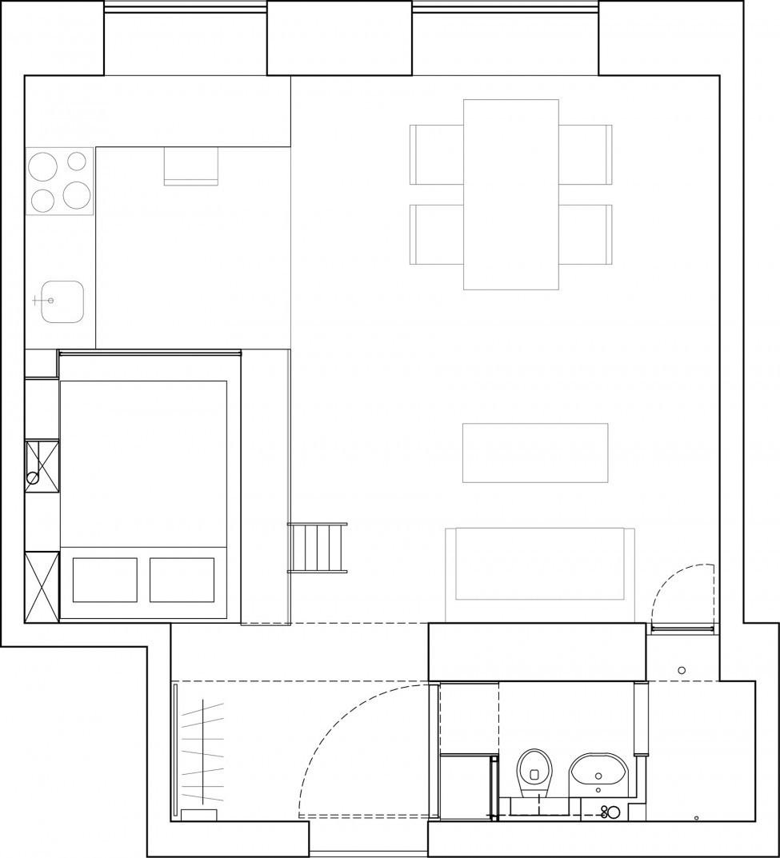 необичайният вид на едно 36 кв. м жилище_23