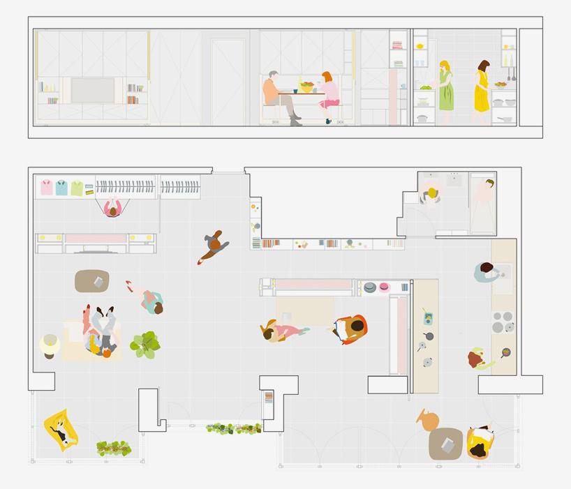 от студио в апартамент с три спални_план без спални