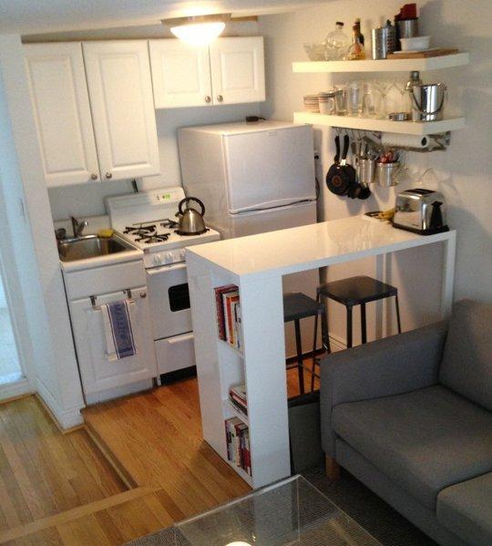 кухненски остров за малък апартамент