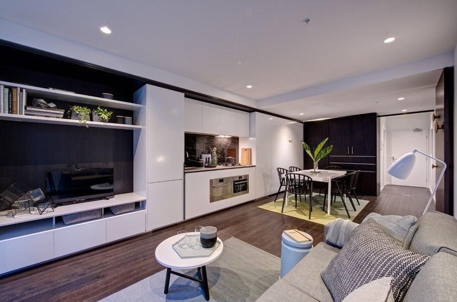 лускозен малък апартамент с повдижни стени_1