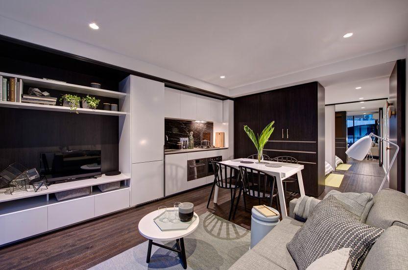 лускозен малък апартамент с повдижни стени_7