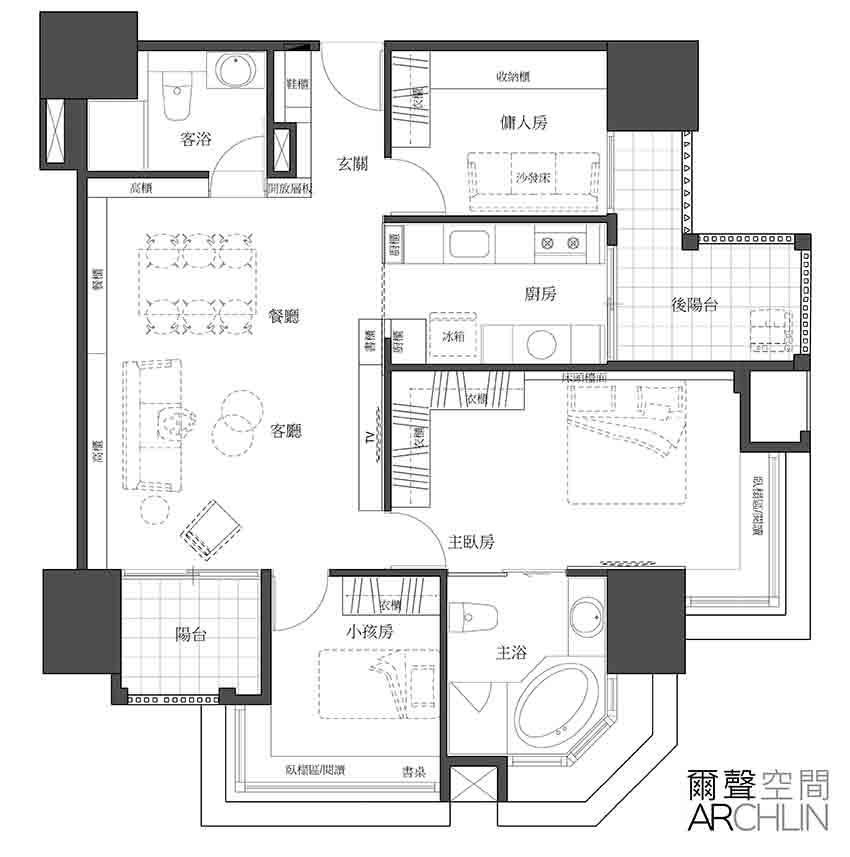 нови мебели_старо жилище_разпределение