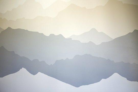 акцентна стена - нарисувани планини 3